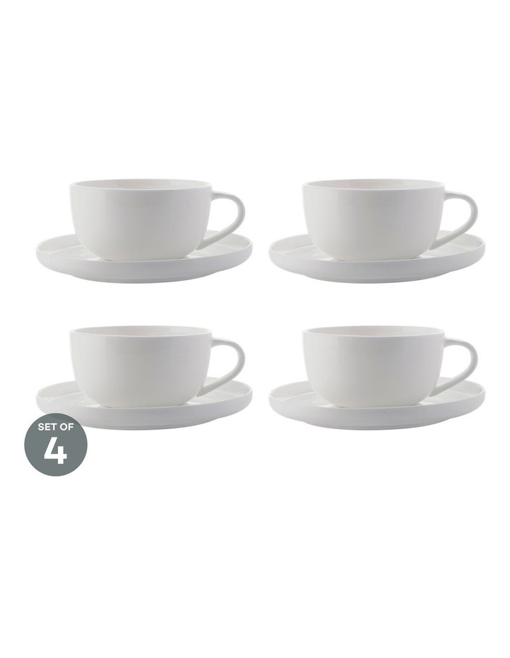 Cashmere High Rim Demi Cup & Saucer 100ML Set of 4 image 1