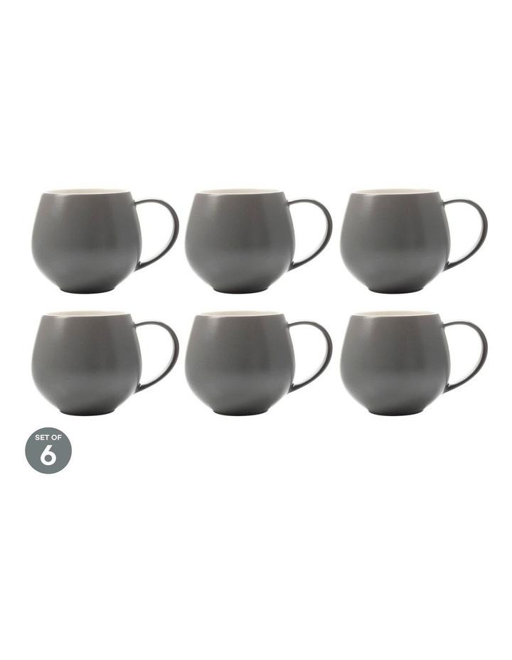 Tint Snug Mug 450ML Charcoal Set of 6 image 1