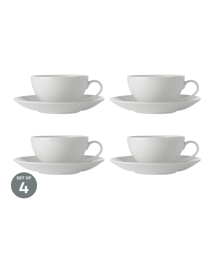 White Basics Coupe Cup & Saucer 200ML Set of 4 image 1
