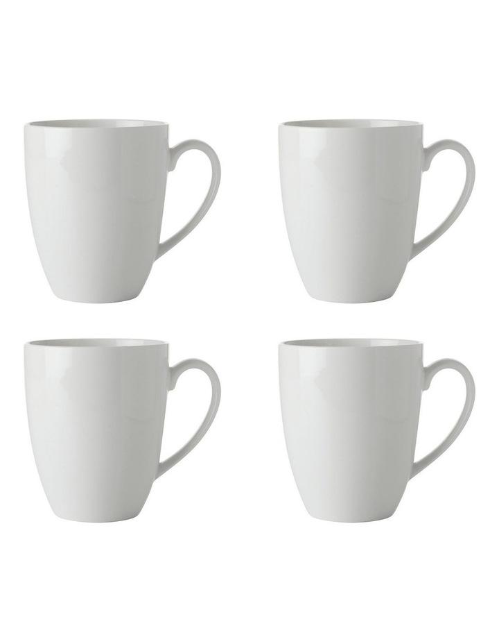 White Basics Coupe Mug 450ML Set of 4 image 1
