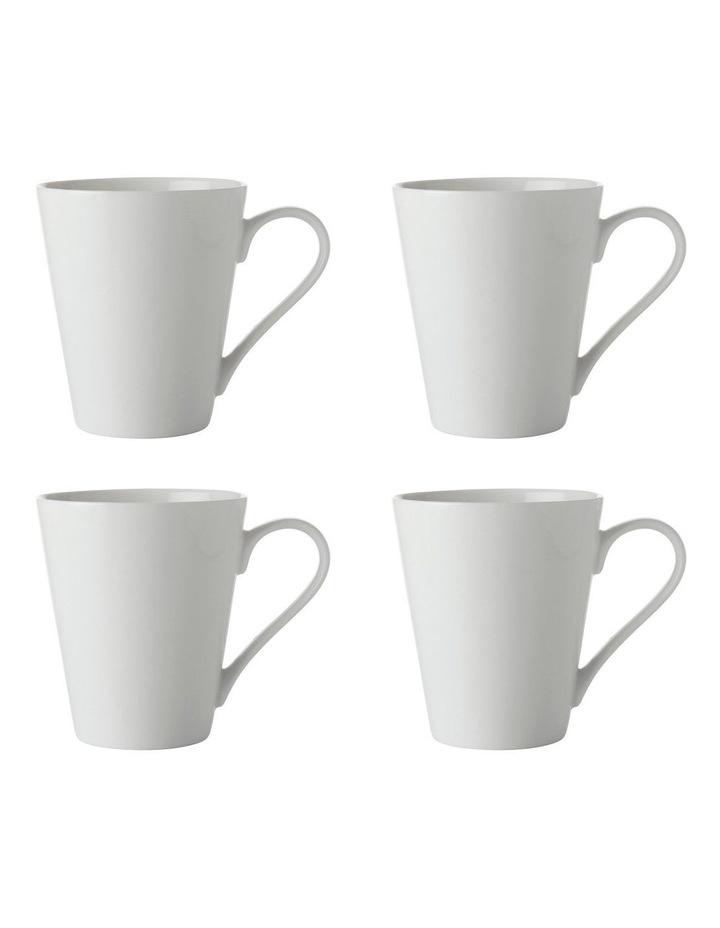 White Basics Conical Mug 300ML Set of 4 image 1
