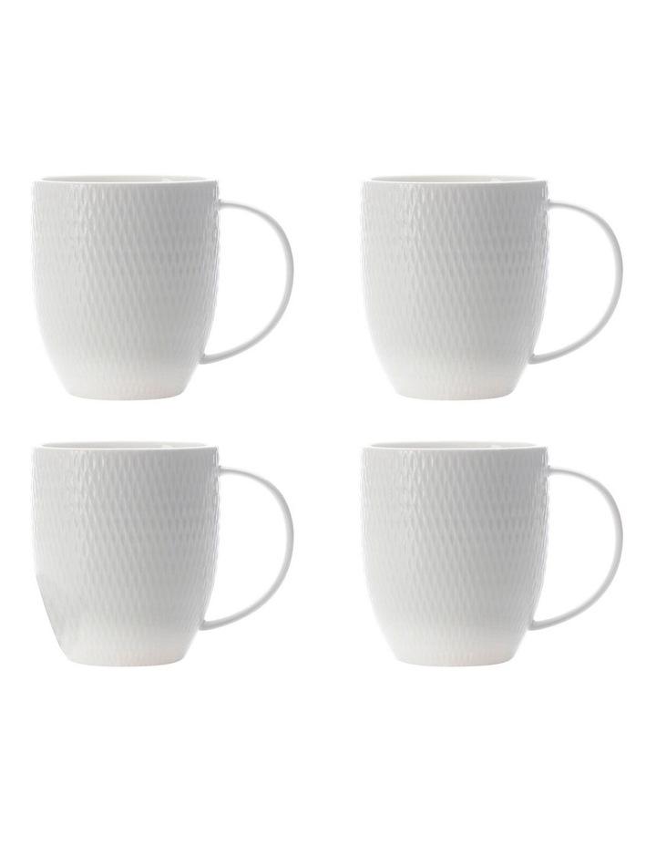 White Basics Diamonds Coupe Mug 370ML Set of 4 image 1