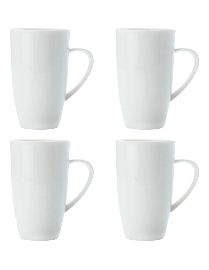 White Basics Coupe Mug Tall 600ML Set of 4 image 1