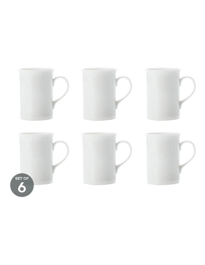 White Basics English Mug 250ML Set of 6 image 1