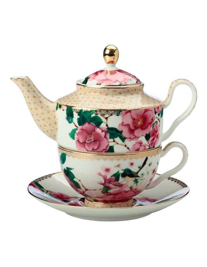 Teas & C's Silk Road Tea for One With Infuser 380ML White Gift Boxed image 1