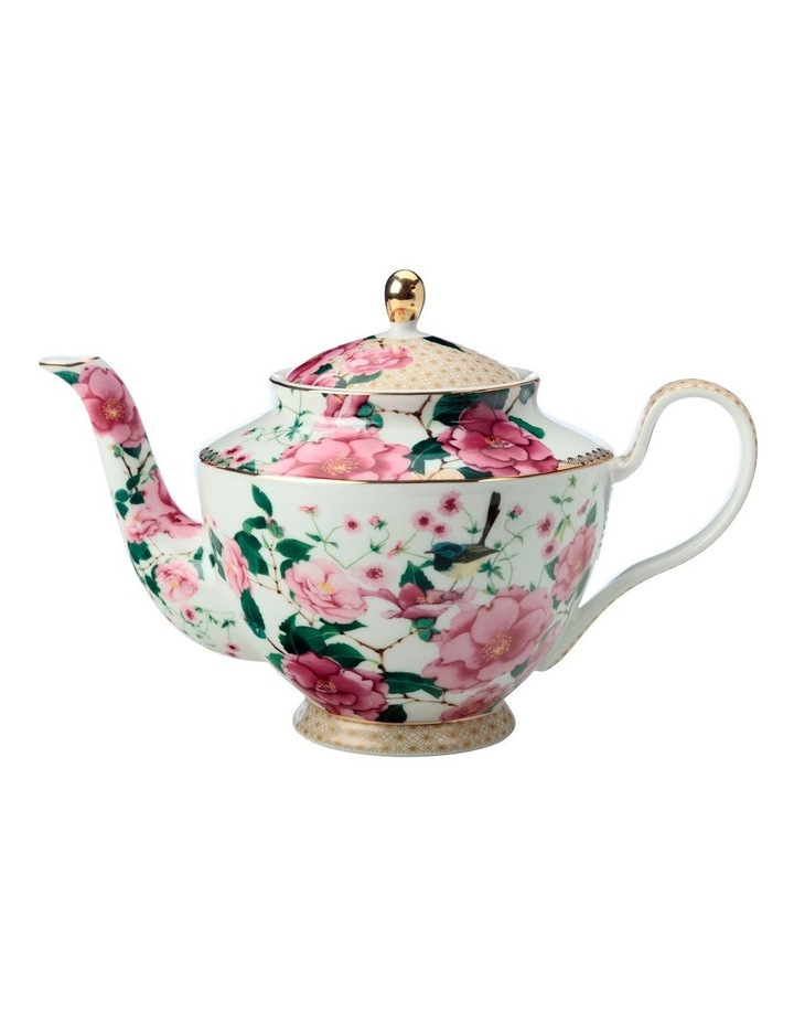 Teas & C's Silk Road Teapot With Infuser 1lt White Gift Boxed image 1