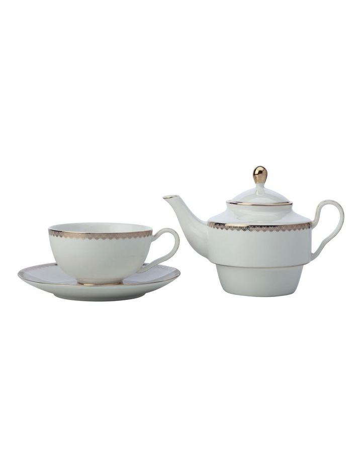 Teas & C's Classic Tea for One with Infuser 380ML White Gift Boxed image 2