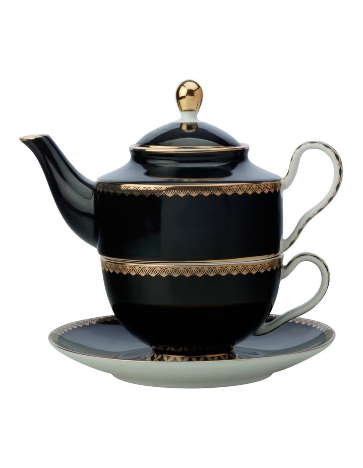 Teas & C's Classic Tea For One With Infuser 380ML Black Gift Boxed image 1