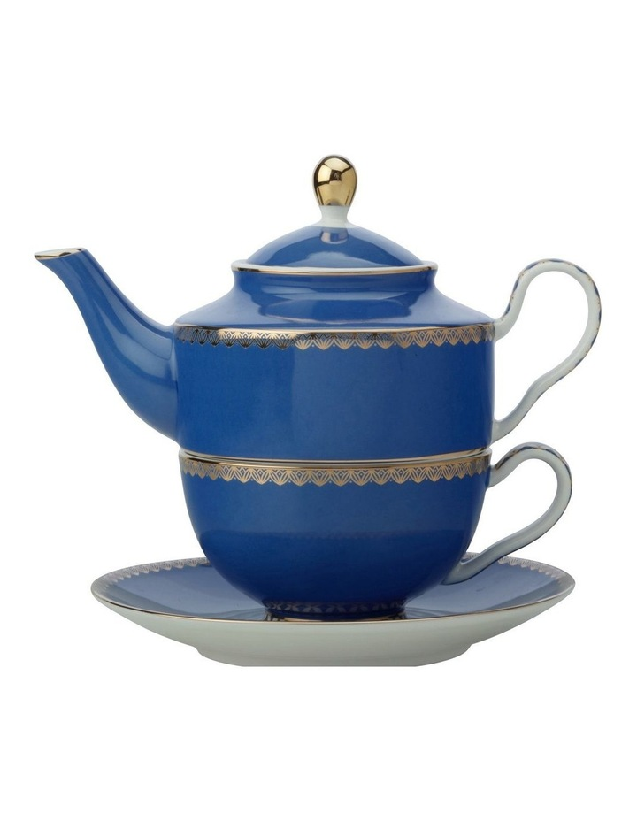 Teas & C's Classic Tea for One With Infuser 380ML Blue Gift Boxed image 1