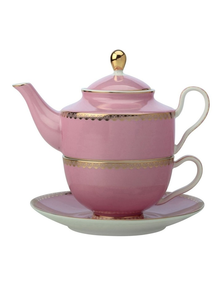 Teas & C's Classic Tea for One with Infuser 380ML Hot Pink Gift Boxed image 1