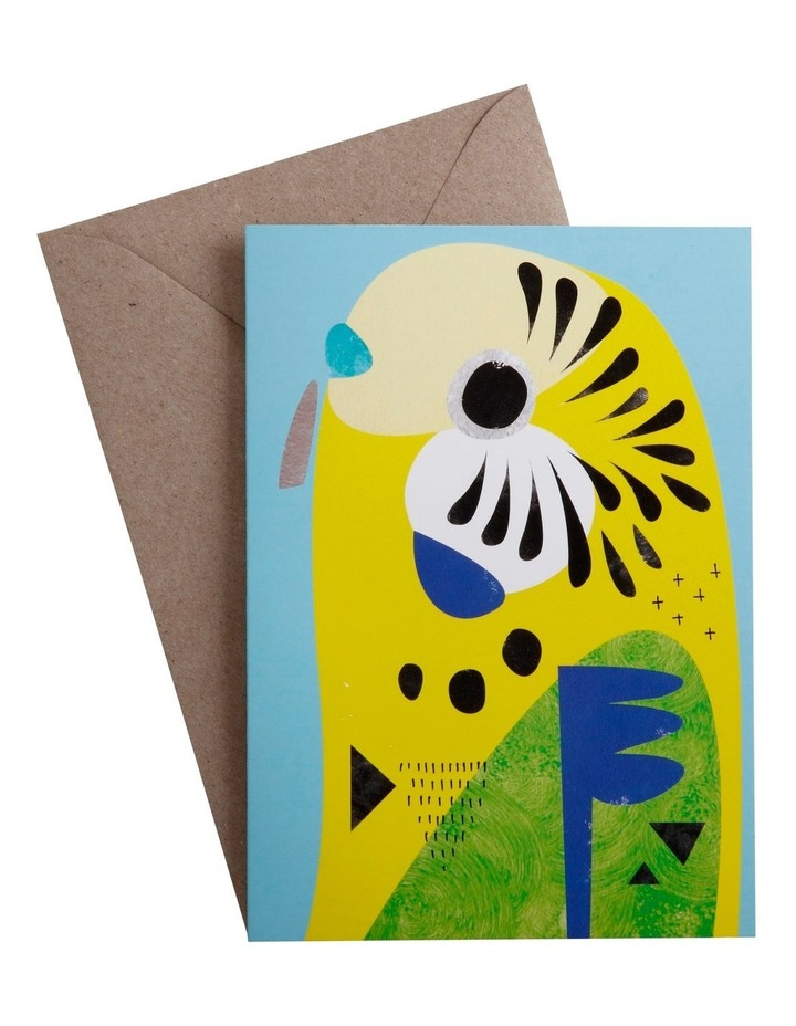 Pete Cromer Greeting Card Budgerigar image 1