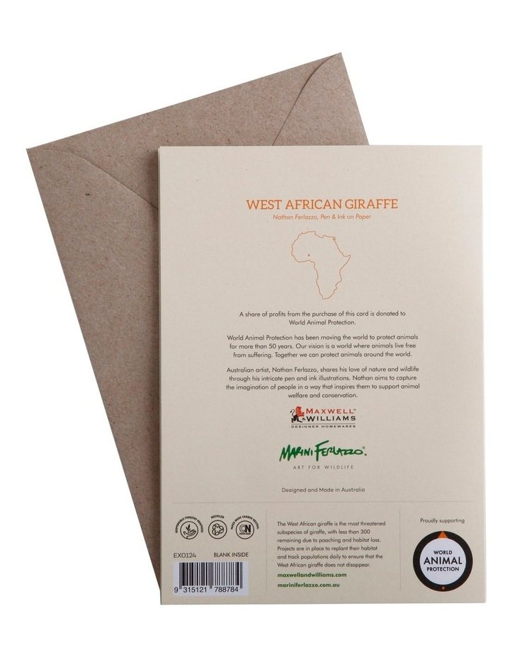 Marini Ferlazzo Greeting Card African Giraffe image 3