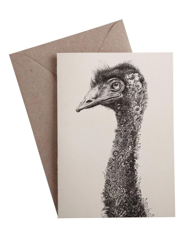 Marini Ferlazzo Greeting Card Tall Emu image 1