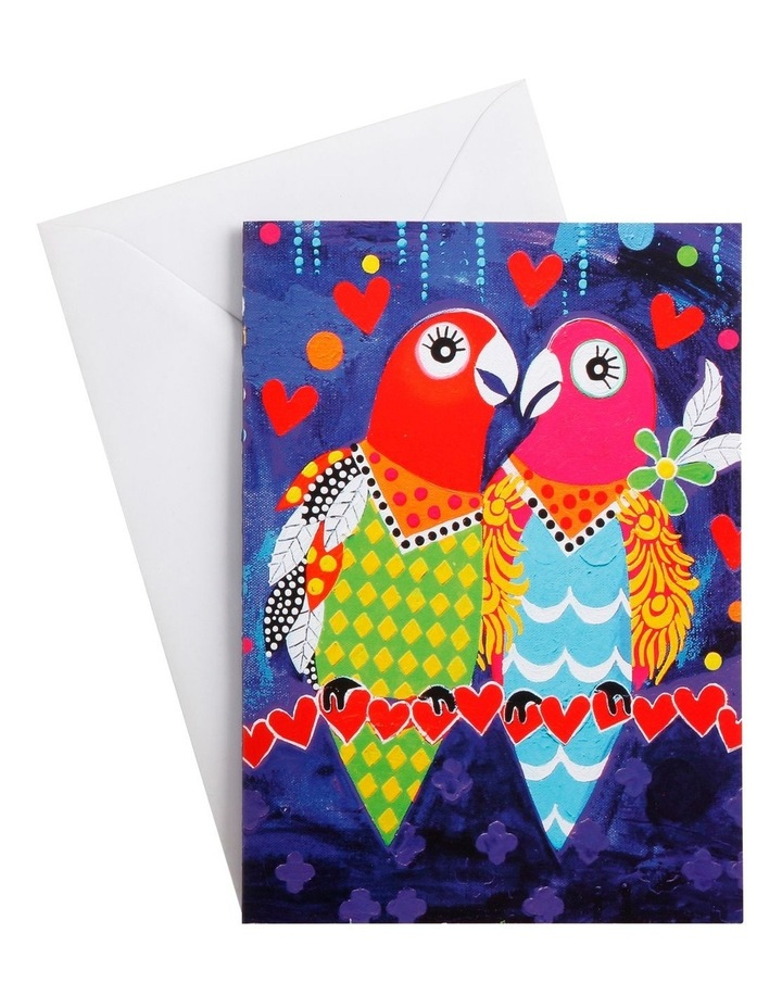 Love Hearts Greeting Card Love Birds image 1