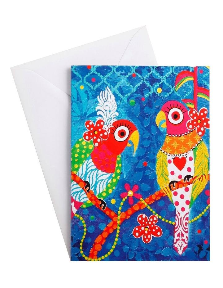 Love Hearts Greeting Card Rainbow Girls image 1