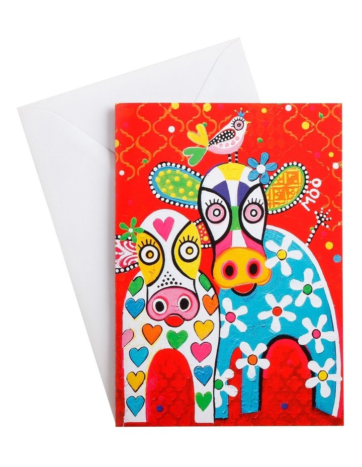 Love Hearts Greeting Card Happy Moo Day image 1