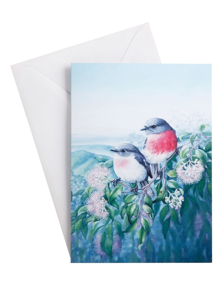 Birds of Australia 10yr Anniversary Greeting Card Rose Robin image 1