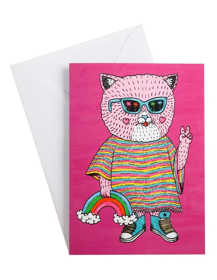 Mulga the Artist Greeting Card Cat image 1