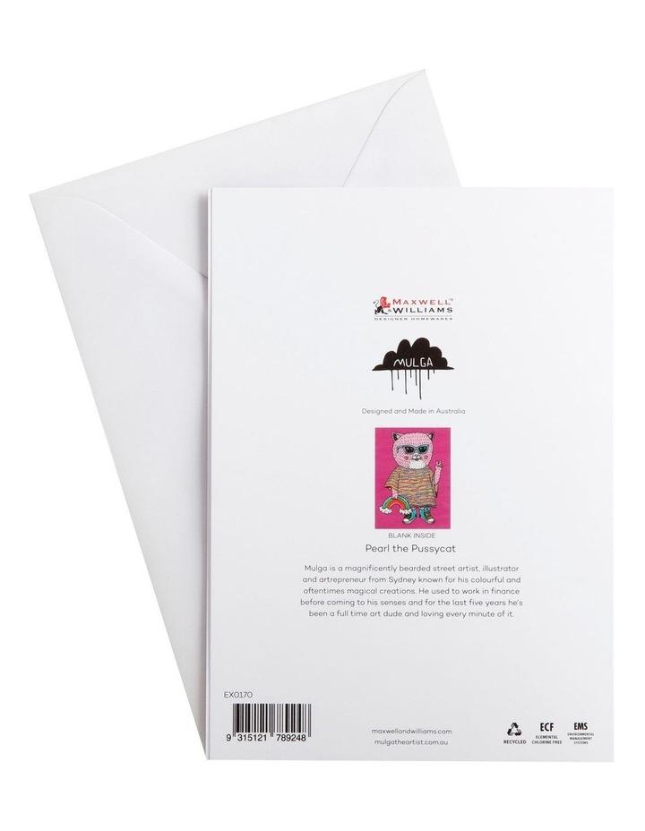 Mulga the Artist Greeting Card Cat image 2