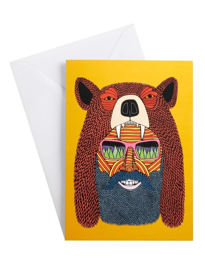Mulga the Artist Greeting Card Bear Man image 1