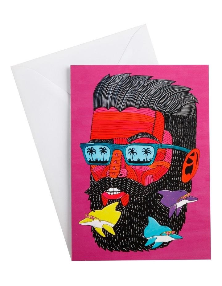 Mulga the Artist Greeting Card Dolphin Man image 1