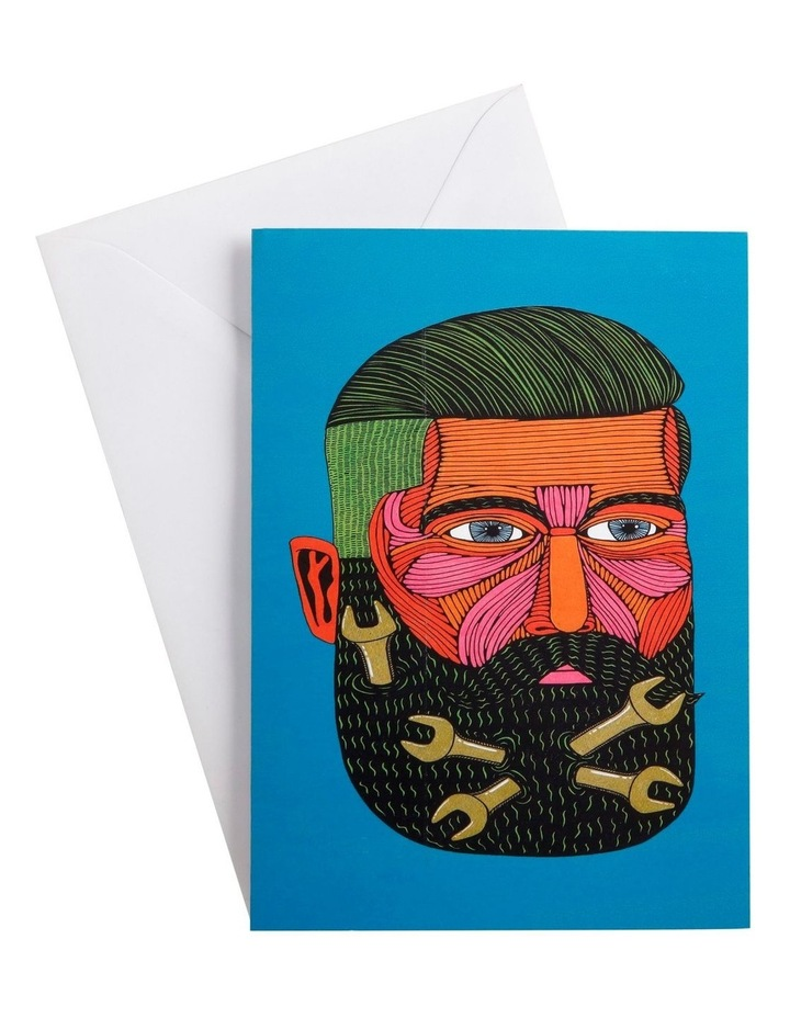 Mulga the Artist Greeting Card Spanner Man image 1