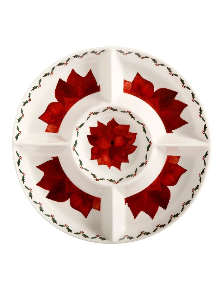 Poinsettia Divided Chip & Dip 33cm Gift Boxed image 1
