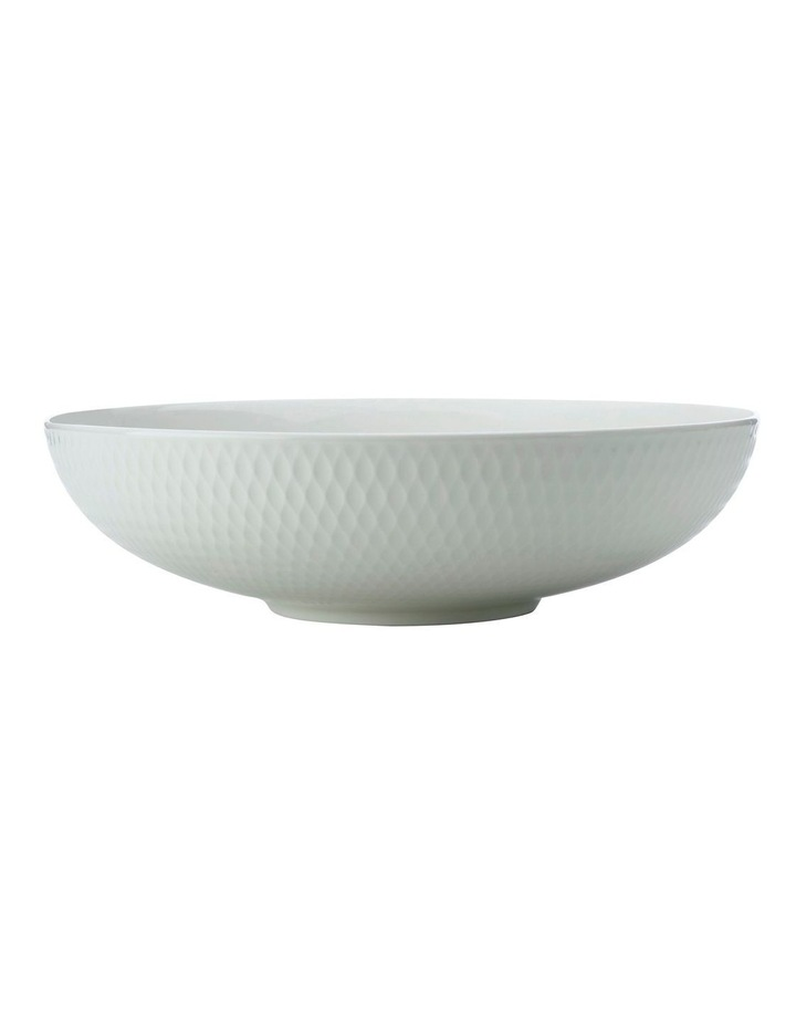 White Basics Diamonds Round Serving Bowl 28cm image 1