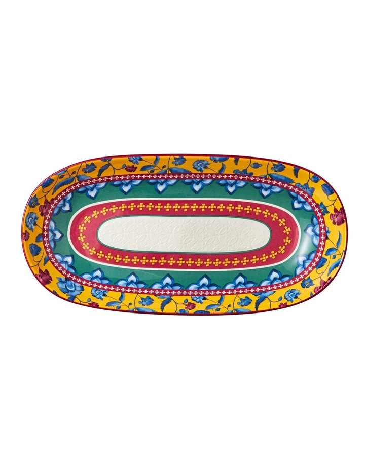 Rhapsody Oblong Bowl 43x22cm Red Gift Boxed image 1