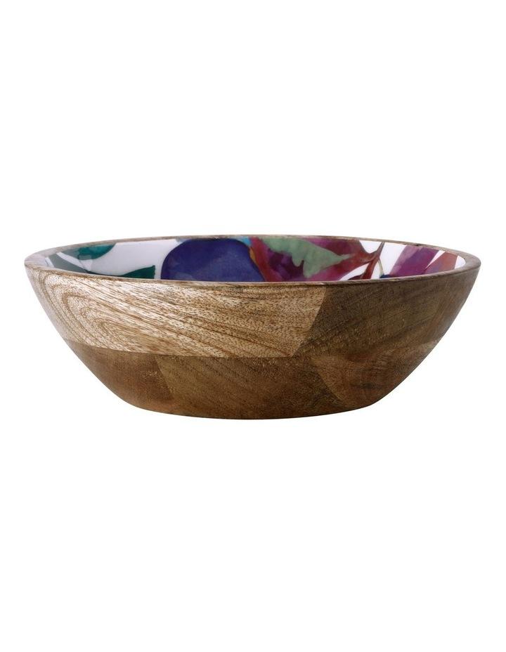 Samba Mango Wood & Enamel Finish Bowl 24cm image 1