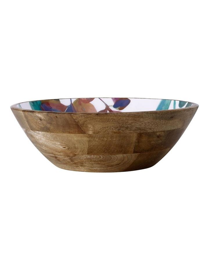 Samba Mango Wood & Enamel Finish Serving Bowl 34cm image 1