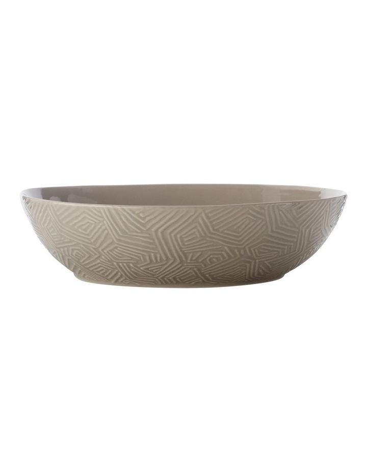 Dune Oval Serving Bowl 32x27cm Taupe Gift Boxed image 1