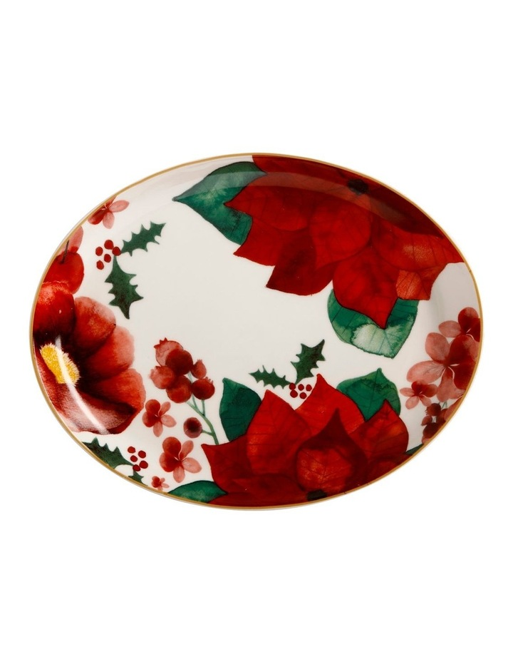 Poinsettia Oval Platter 25x19cm Gift Boxed image 1