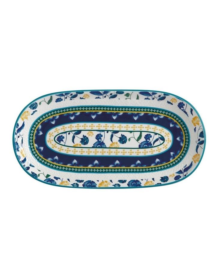 Rhapsody Oblong Platter 33x17cm Blue Gift Boxed image 1