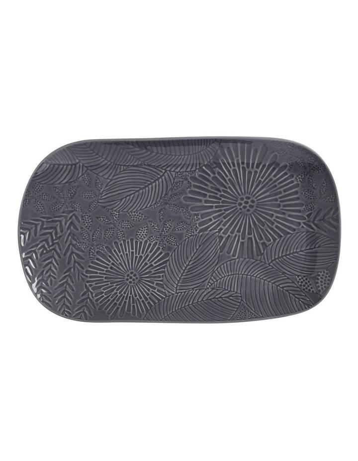 Panama Oblong Platter 39x23cm Grey Gift Boxed image 1