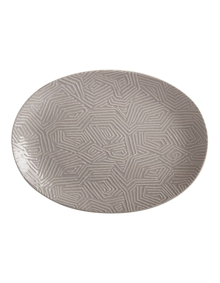 Dune Oval Platter 41x30cm Taupe Gift Boxed image 1