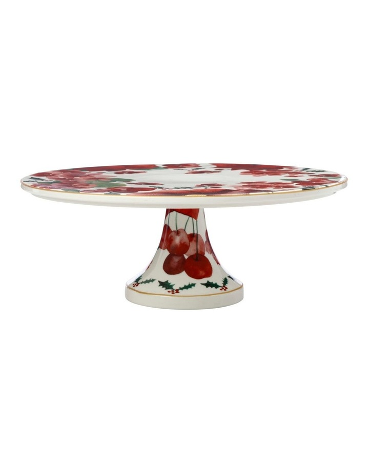 Poinsettia Footed Cake Stand 29cm Gift Boxed image 2