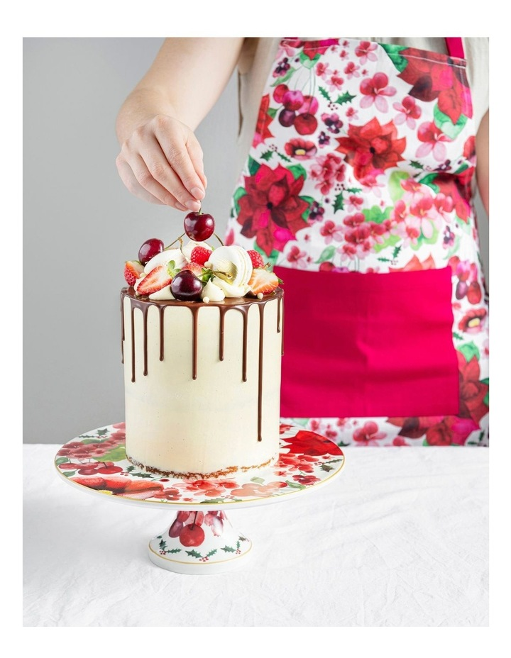 Poinsettia Footed Cake Stand 29cm Gift Boxed image 3