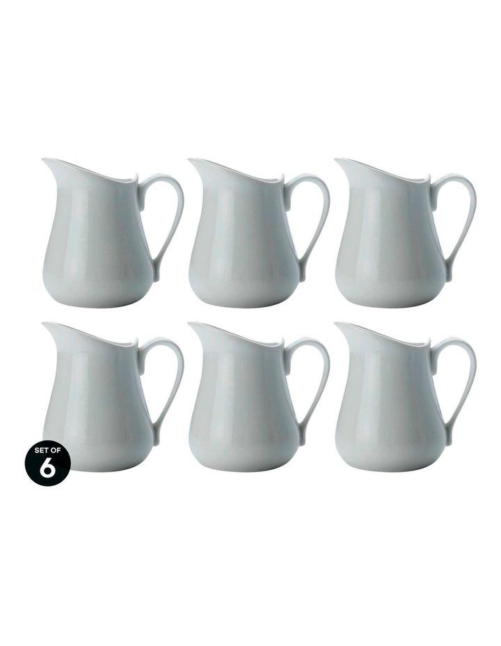 White Basics Milk Jug 320ML Set of 6 image 1