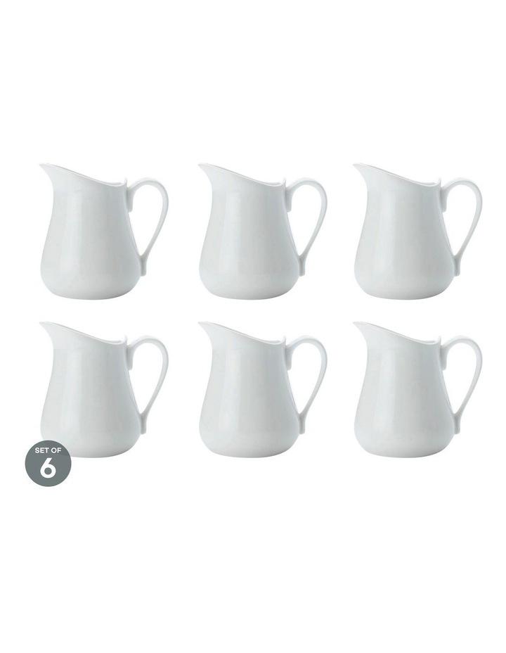 White Basics Milk Jug 110ML Set of 6 image 1