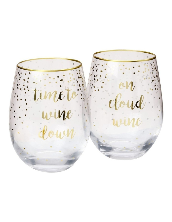 Celebrations Stemless Glass 500ML Set of 2 Cloud Time Gift Boxed image 1