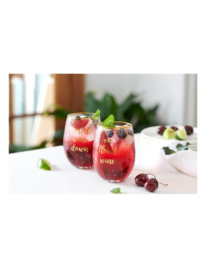 Celebrations Stemless Glass 500ML Set of 2 Cloud Time Gift Boxed image 2