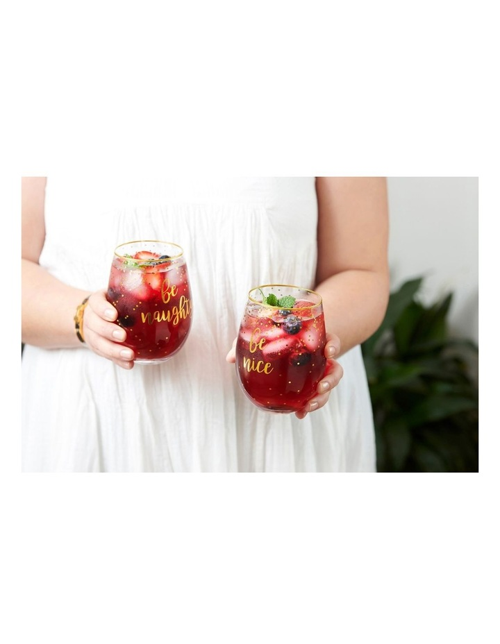 Celebrations Stemless Glass 500ML Set of 2 Naughty Nice Gift Boxed image 2
