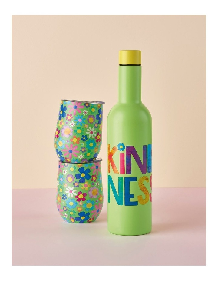 Kasey Rainbow Be Kind Double Wall Insulated Wine Set 3pc Kindness Boxed image 2