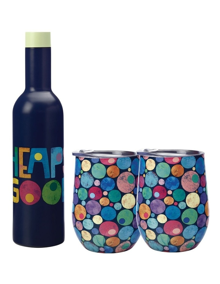 Kasey Rainbow Be Kind Double Wall Insulated Wine Set 3pc Heaps Good Boxed image 1