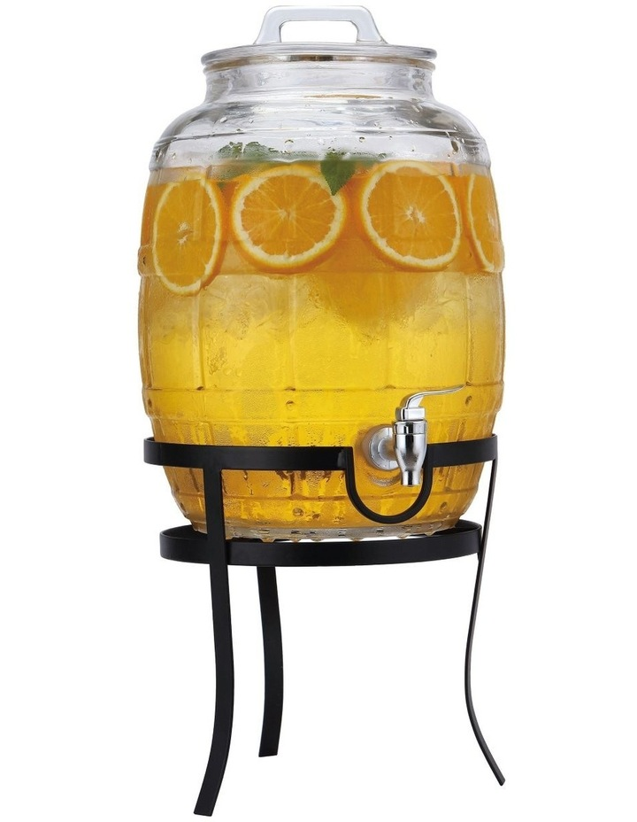 Barrel Drink Dispenser with Stand 10L Gift Boxed image 1