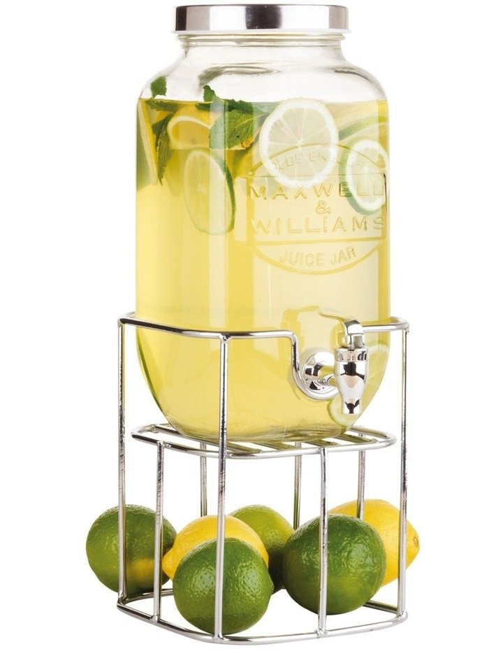 Olde English Juice Jar & Stand 3.5L Silver Gift Boxed image 1