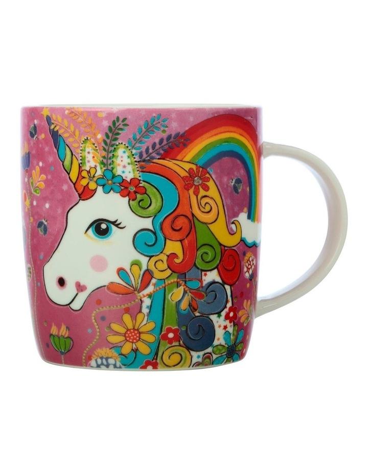 Donna Sharam Rainbow Jungle Mug 370ML Rainbow Unicorn Gift Boxed image 1