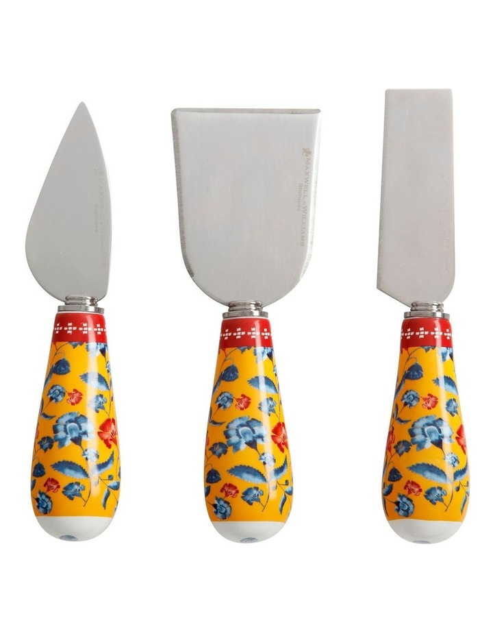 Rhapsody Cheese Knife Set of 3 Red Gift Boxed image 1