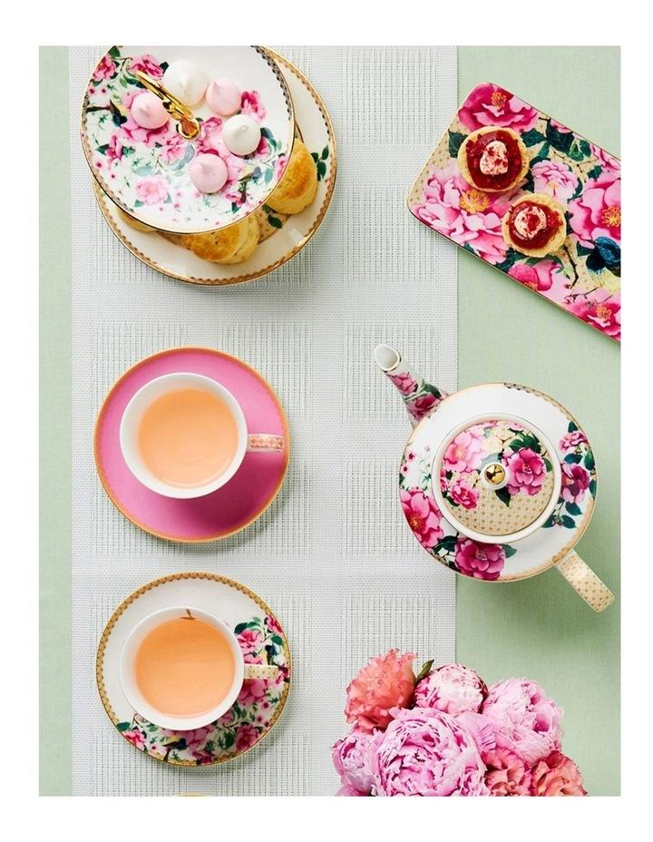 Teas & C's Silk Road Cake Fork Set 4pc White Boxed image 2